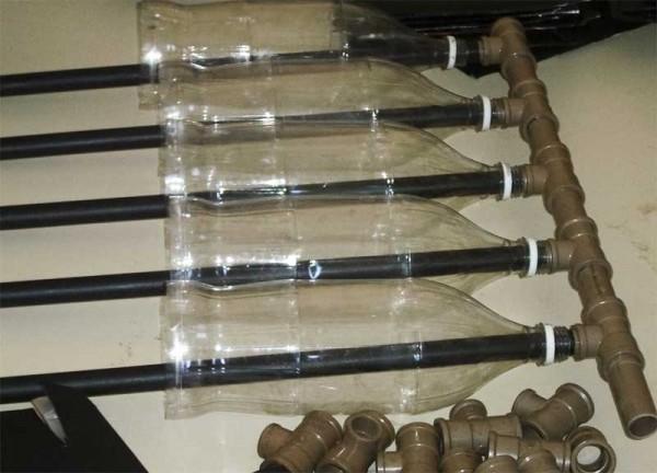Водонагреватель из пластиковых бутылок